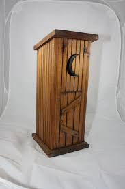 Primitive Outhouse Bathroom Decor by Rustic Outhouse Toilet Paper Holder 34 95 Via Etsy Shelves