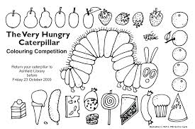Printable Caterpillar Coloring Pages Hungry Colouring Page Monarch