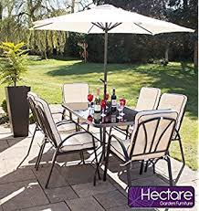Amazon Uk Patio Chair Cushions by Charles Bentley Metal Cast Aluminium 7 Piece Stamford Garden