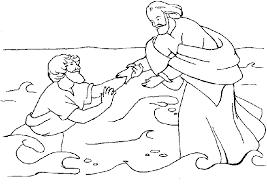 Free Jesus Walks On Water Coloring Page In Walking Bible Colorine