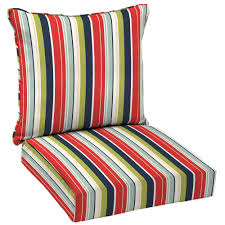 Hampton Bay Patio Chair Replacement Cushions by Hampton Bay Francesca Stripe 2 Piece Deep Seating Outdoor Dining