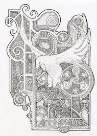 Free Coloring Pages Of Celtic Animal See More Bird Design