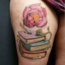 Creative Book Tattoo By James Withee