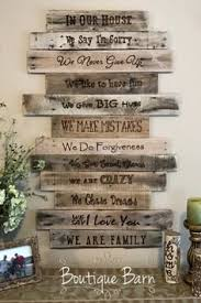 Family Rules Sign Wood Rustic Art Wall Decor