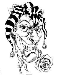 Evil Clown Pumpkin Stencils by Rose In Jester Clown Mouth Tattoo Stencil 1 Pinterest Clown