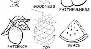 Amazing As Well Beautiful Fruits Of The Spirit Coloring Pages Intended For Your Property