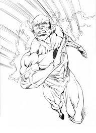 Flash 15 Superhéroes Páginas Para Colorear