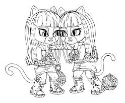 Monster High Coloring Pages Baby Draculaura 2 Kids N Of Color Printable Picture