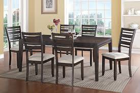 7 Piece Parsons Diningroom Group In Handsome Hickory Veneers And Hardwood Solids Finished A Rich Deep Expresso Finish Includes Six Upholstered Seat