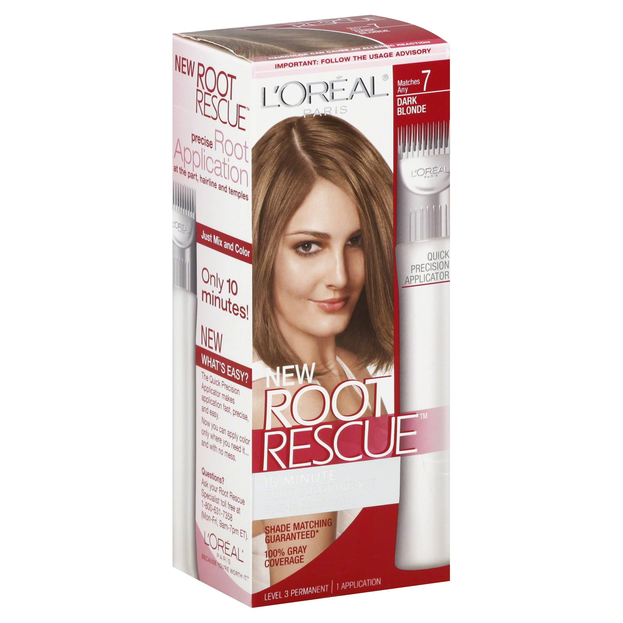 L'Oreal Paris Root Rescue Hair Coloring Kit - Dark Blonde