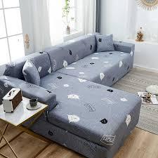 sofa abdeckung l typ elastische universal sofa abdeckung wohnzimmer schnitt abdeckung 1 2 3 4 sitz kombination sofa abdeckung