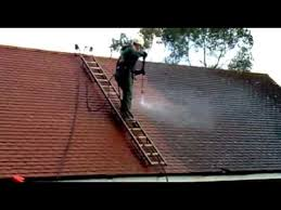 roof cleaning in the uk cleaning moss from concrete tiles by