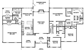Simple Single Level House Placement by Simple 5 Bedroom 1 Story House Plans Placement House Plans 40213