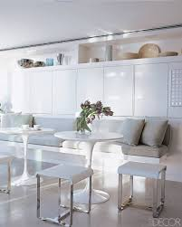 Dining Room: White Dining Banquette Wit White Round Table Plus ... Beautiful Banquette And Table 18 Corner Round Outstanding 136 Ding Bench 12 Ways To Make A Work In Your Kitchen Hgtvs 20 Stunning Booths And Banquettes Hgtv Fniture Curved For Top Quality Exceptional Astounding Curve With Black Laminate Gloss Lighting Modern Chandelier Dark Wood Chairs Room Decorations Pedestal Excellent 39