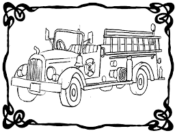 Free Coloring Pages Fire Engines