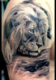 Alone African Lion Tattoo