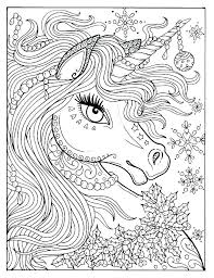 Unicorn Coloring Page Printable Pages X