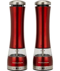 buy morphy richards accents salt and pepper mills red at argos