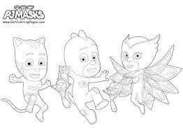 Pj Masks Coloring Pages To Print Printable Mask Blank Free