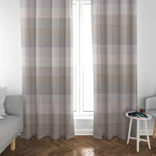 schöner leben vorhang streifen 9 5cm creme beige braun grau 245cm oder wunschlänge