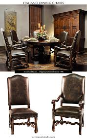 Leather Dining Chairs Old World Dark Brown Leather Chairs