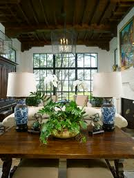 Traditional Rustic Living Room In Blue White And Brown