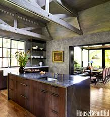 Colorful Kitchens Rustic Brown Kitchen Cabinets Country Living Ideas Online Spanish