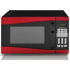 Hamilton Beach 09 Cu Ft 900W Microwave Red