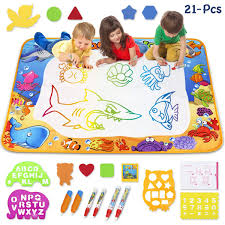 Amazoncom Toyk Aqua Magic Mat Kids Painting Writing Doodle Board