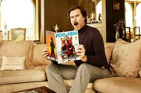 from the fhm archive at home with ron burgundy fhm
