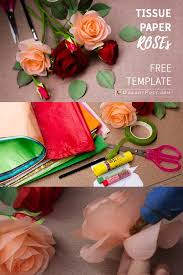 Tissue Paper Rose Tutorial With Free Template Paperrose Rosetutorial Rosemaking Paperflower