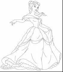 Fabulous Disney Princess Belle Coloring Pages With Printable And