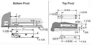 Heavy Door Center Hung Pivot Set ABH 0370 Doorware
