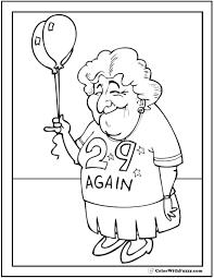 Birthday Grandma Coloring Sheet