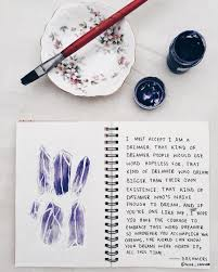 Purple Crystals Art Journal Entry Tumblr Creative Craft For Teens Ideas Inspiration