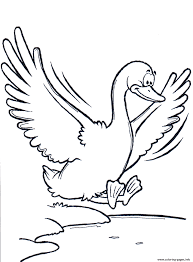 Flying Goose Printable Animal S1fed Coloring Pages