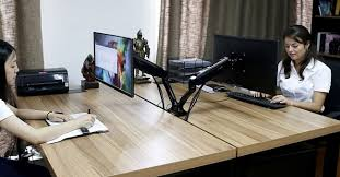 Vesa Desk Mount Dual by Best Desk Mount Arms And Stands For Lcd Led Monitors