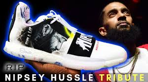 100 Space Jam Foams RIP Nipsey Hussle Tribute Harden 3s Full Custom By Sierato