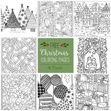 Free Christmas Adult Coloring Pages Within