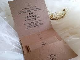 Pocketfold With 2 Information Cards And RSVP Card Envelope Rustic Kraft Wedding
