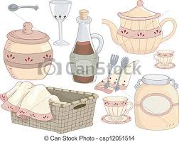 Country Kitchen Tools Illustration Of With A