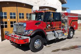 Pierce Flower Mound TX Fire Department Pumper International 7400 4x4 Cab And Chassis Navistar N9 330 Hp Engine Darley LSP 1000 Gpm Pump Mobile Attack