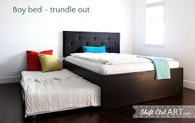 bedroom magnificent to build a queen bed with twin trundle ikea
