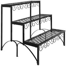 Patio Plant Stands Wheels by Tiered Plant Stand Ebay