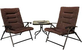 Kozyard Elsa 3 Pieces Outdoor Patio Furniture Padded Folding Bistro-Sets  For Yard, Patio, Deck Or Backyard(Dark Brown) Camping Chairs Folding Recling Sco Padded Chair 14993ant4 Crafty Beaver Guide Gear Oversized Club Camp 500lb Capacity Rent Fruitwood Wivory Seat Best Lawn Reviews Which Of These 7 Will Premium 2 Thick Fabric By National Public Seating 3200 Series Top 10 2019 Boot Bomb Phi Villa Patio 3 Pc Set For Big Outdoor Ideas Home Decor By Coppercreekgroup Bag