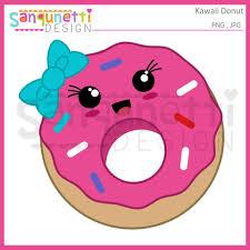 Kawaii Donut Clipart Doughnut Jpg
