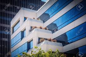 100 California Contemporary Architecture Fragment Of Modern Multistory Building In Business District Of