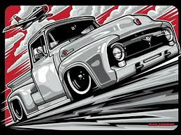Ford F1 Art | AutoGrafos | Trucks, Ford, Automotive Art