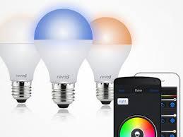 revogi smart led light bulbs controlled via bluetooth electronic