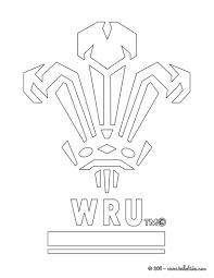 Wales Rugby Team WRU Coloring Page